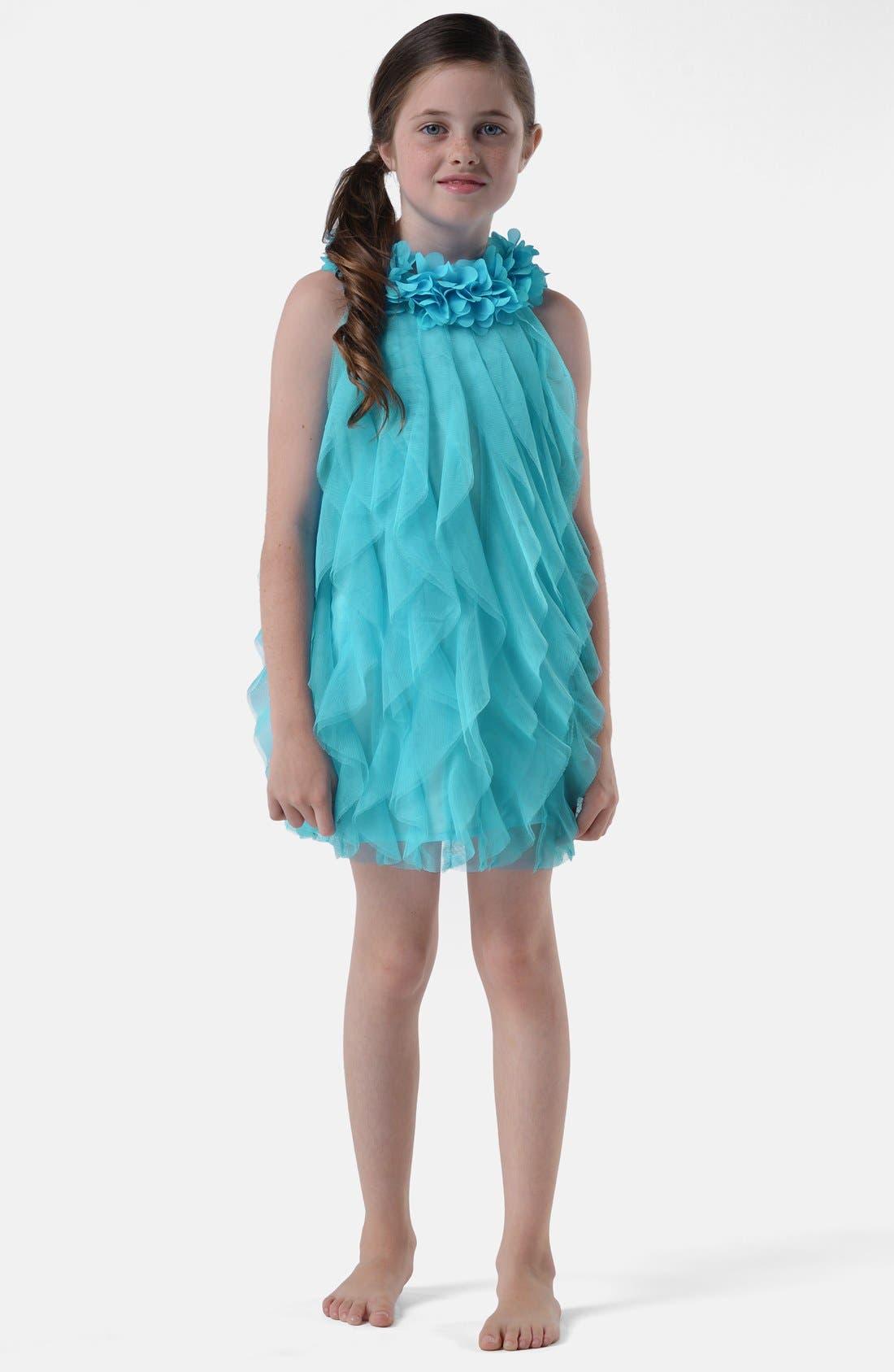 Alternate Image 1 Selected - Us Angels Ruffle Dress (Baby Girls, Toddler Girls, Little Girls & Big Girls)(Online Only)