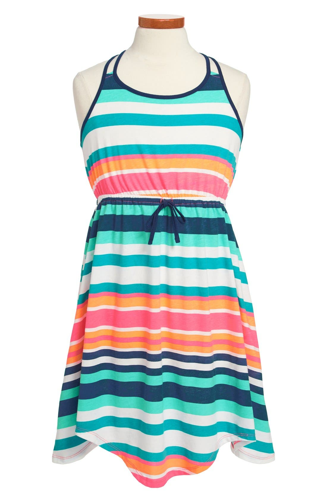 Alternate Image 1 Selected - Roxy 'Just Begun' Stripe Dress (Big Girls)