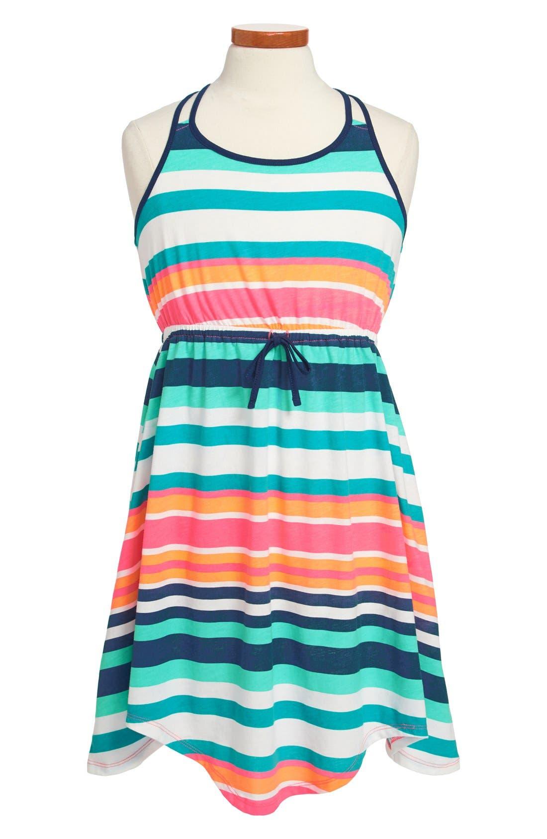 Main Image - Roxy 'Just Begun' Stripe Dress (Big Girls)