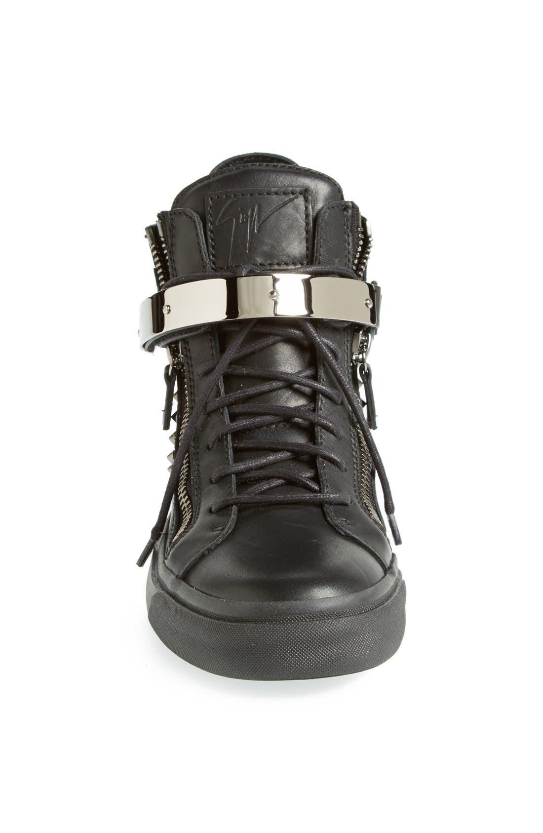 Alternate Image 3  - Giuseppe Zanotti Studded High Top Sneaker (Women)