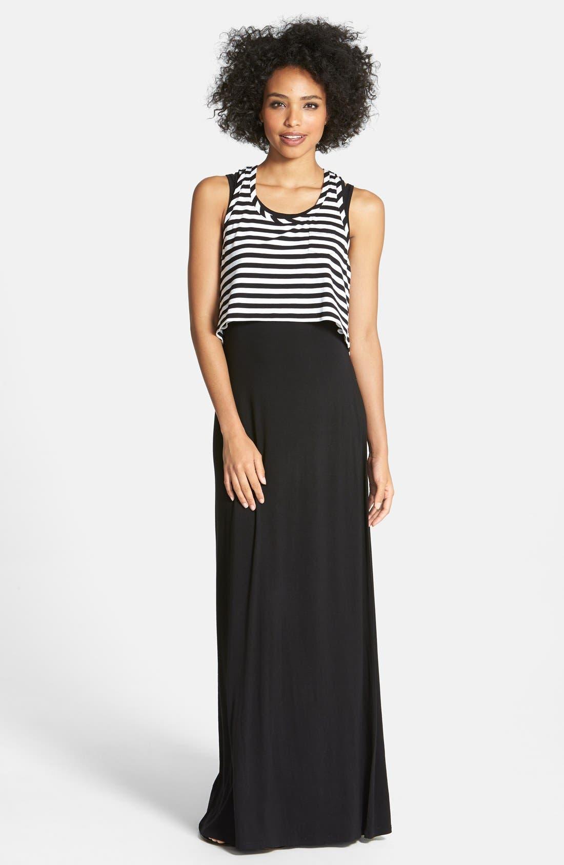 Alternate Image 1 Selected - Halogen® Layered Maxi Dress (Regular & Petite)