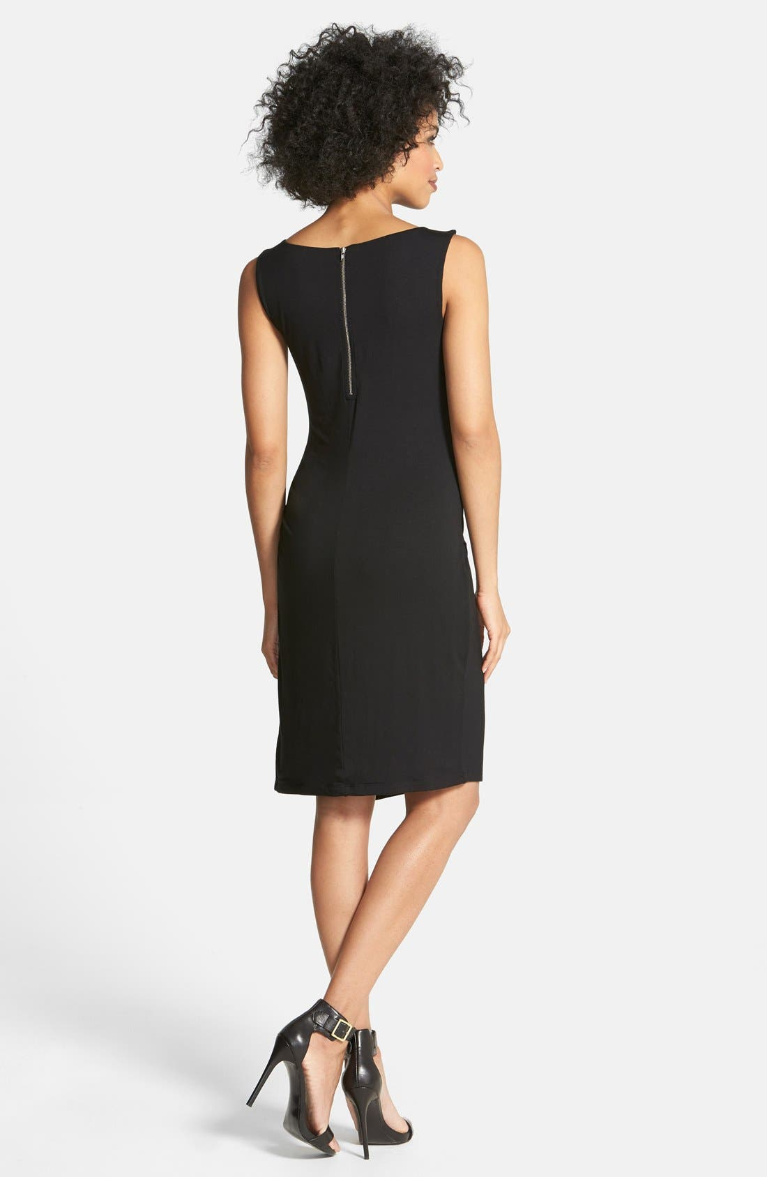 Alternate Image 2  - Halogen® Ruched Faux Wrap Jersey Dress