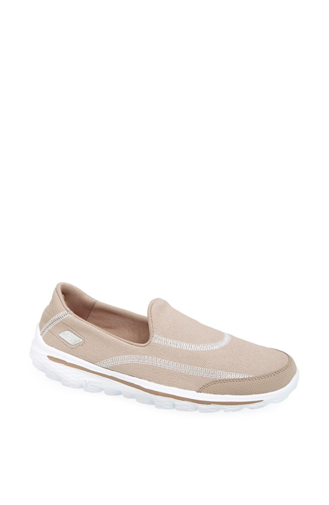 Alternate Image 1 Selected - SKECHERS 'Fresco GO WALK' Slip-On Walking Shoe (Women)