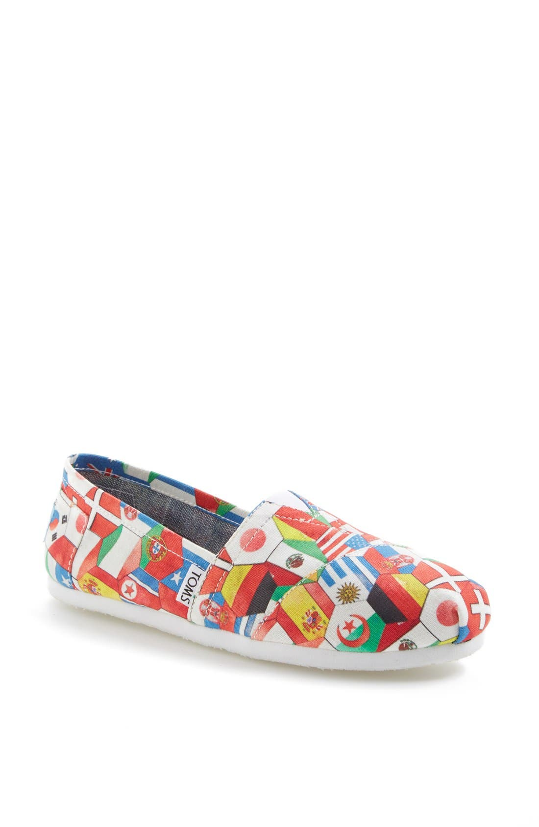 Alternate Image 1 Selected - TOMS 'Classic - World Cup' Slip-On (Women)