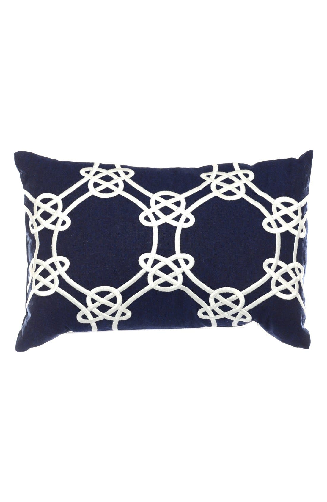 Main Image - Nautica 'Clemsford - Breakfast' Embroidered Linen & Cotton Accent Pillow
