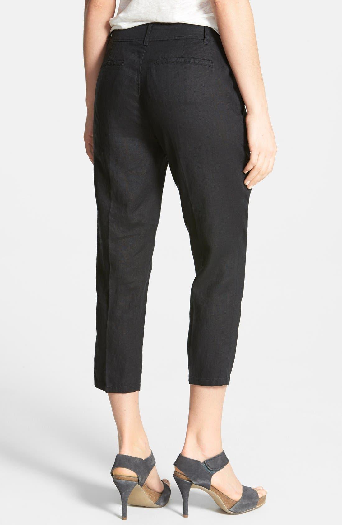 Alternate Image 2  - Eileen Fisher Organic Linen Crop Pants