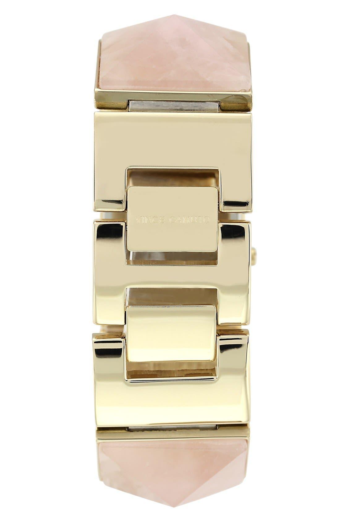 Alternate Image 2  - Vince Camuto Pyramidal Stone Bracelet Watch, 26mm