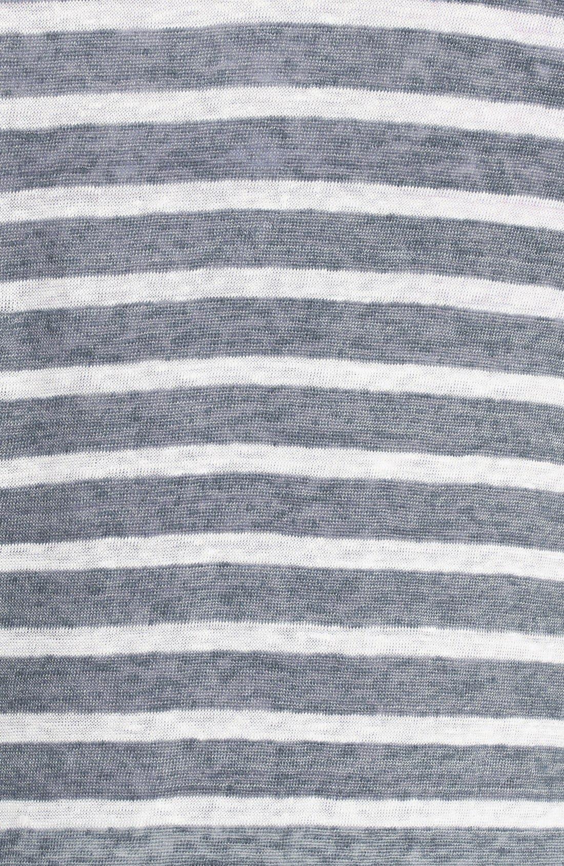 Alternate Image 3  - Majestic Bleached Stripe Linen Tank
