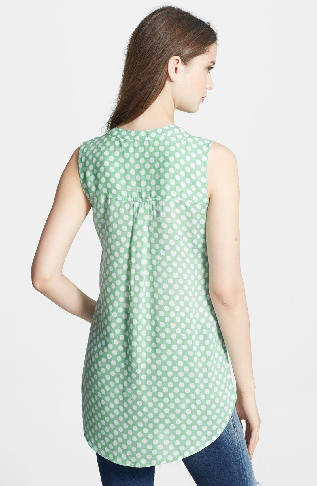 Alternate Image 2  - Sandra Ingrish Sleeveless Dot Print Blouse