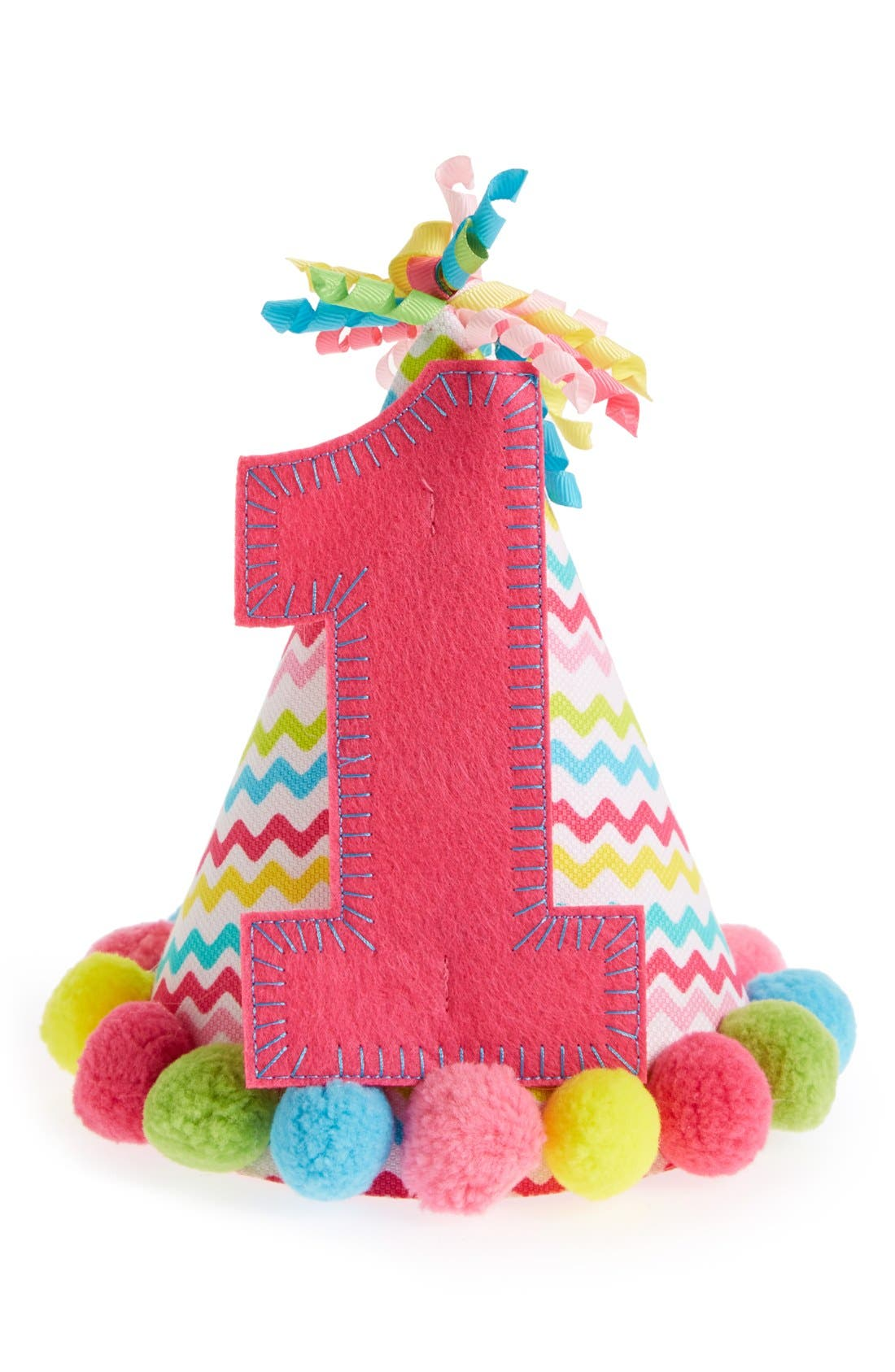 Main Image - Mud Pie 'I'm One' Birthday Hat (Baby Girls)
