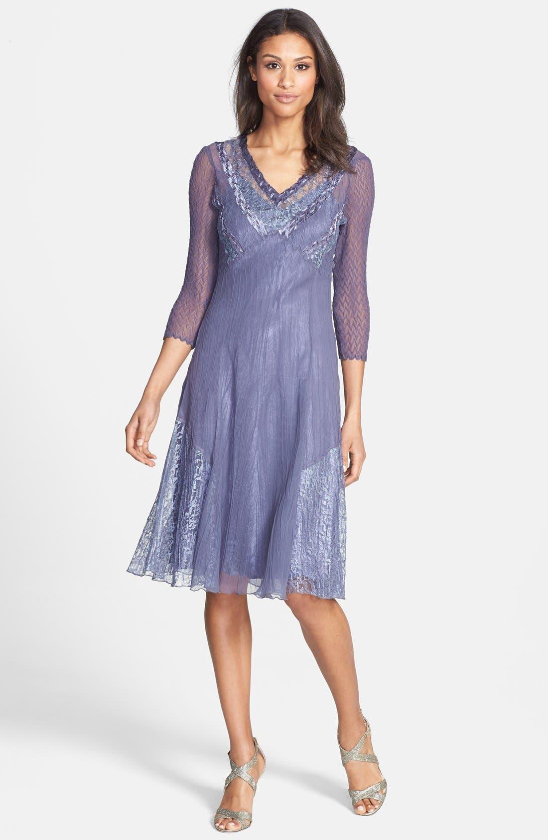 Alternate Image 1 Selected - Komarov V-Neck Chiffon Dress