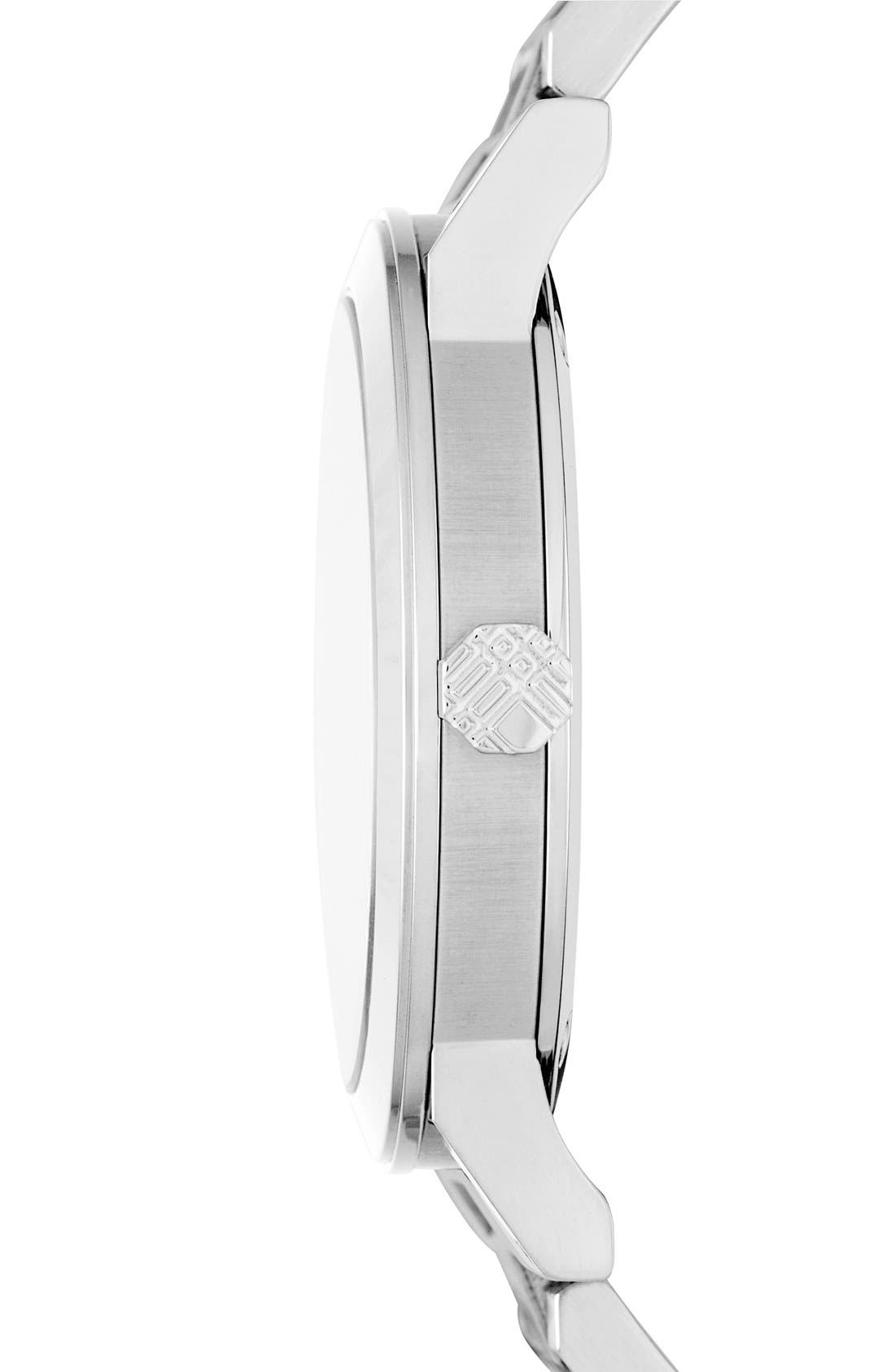 Alternate Image 4  - Burberry Check Stamped Bracelet Watch, 38mm