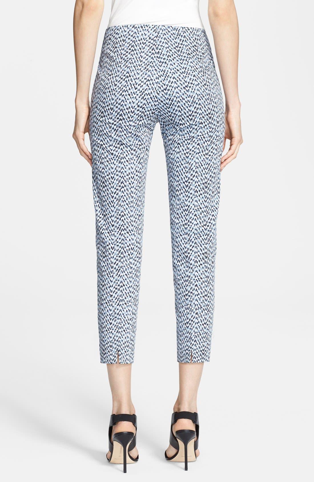 Alternate Image 2  - Armani Collezioni Mosaic Print Pants