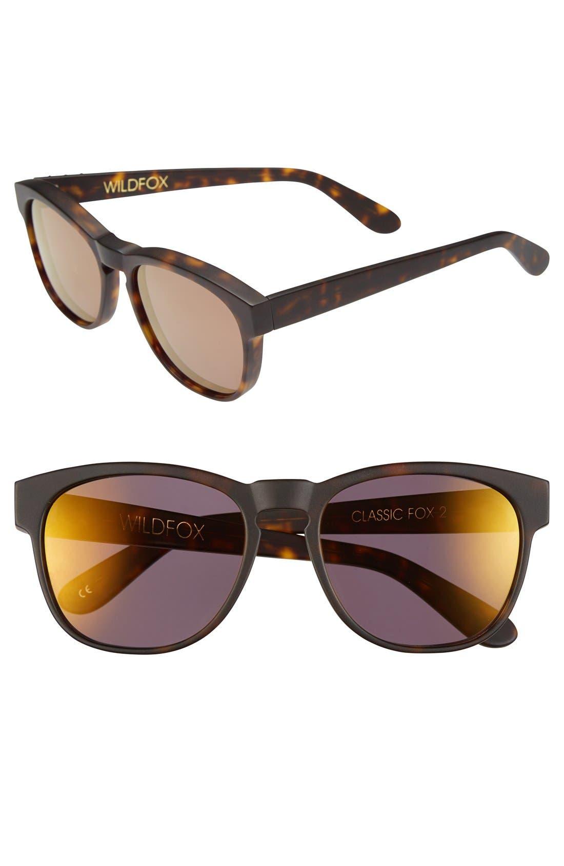 Main Image - Wildfox 'Classic Fox 2 Deluxe' 52mm Sunglasses
