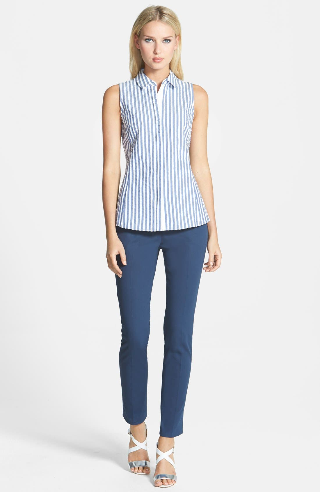Alternate Image 4  - Lafayette 148 New York Polished Twill Skinny Ankle Pant