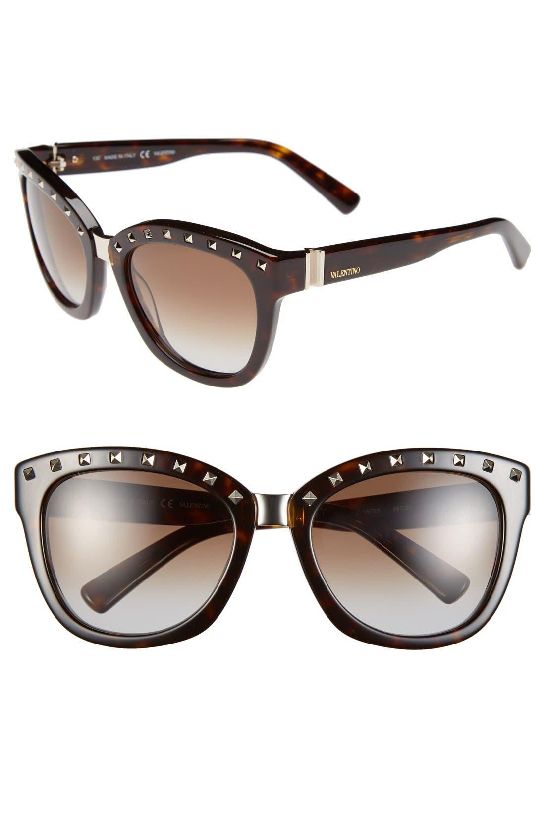 Main Image - Valentino 'Rockstud' 55mm Studded Sunglasses