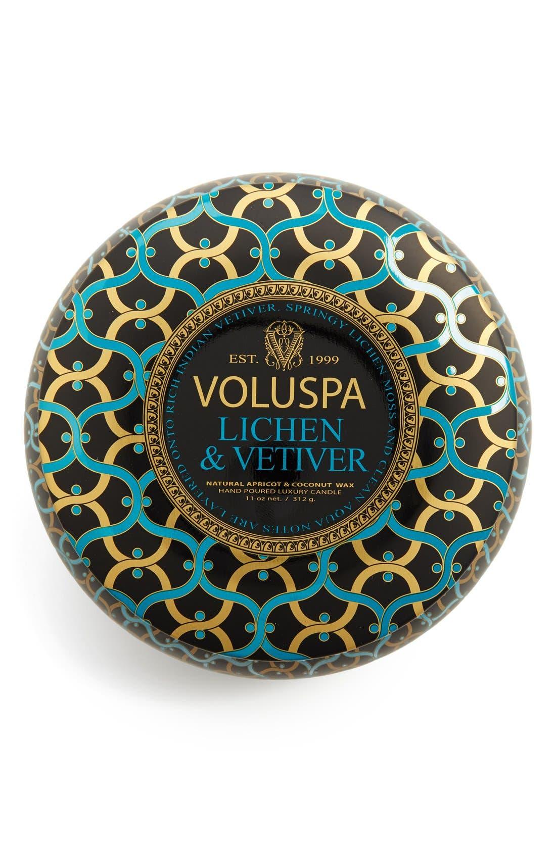 Voluspa 'Maison Noir - Lichen & Vetiver' 2-Wick Scented Candle