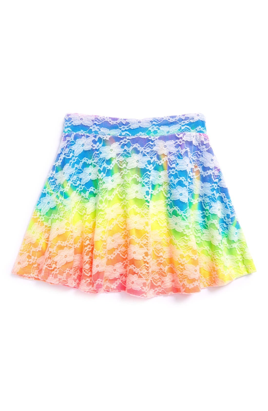 Main Image - Flowers by Zoe Lace Skater Skirt (Big Girls)