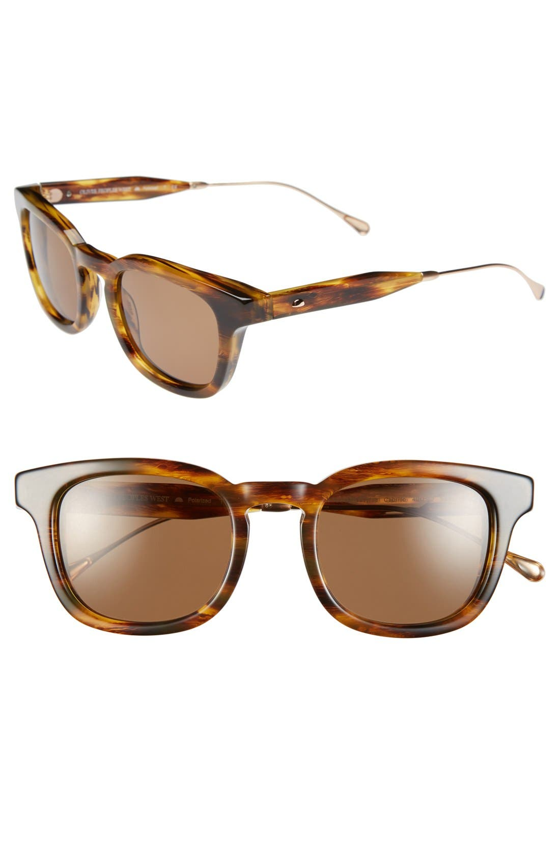 Alternate Image 1 Selected - Oliver Peoples West 'Cabrillo' 49mm Polarized Sunglasses