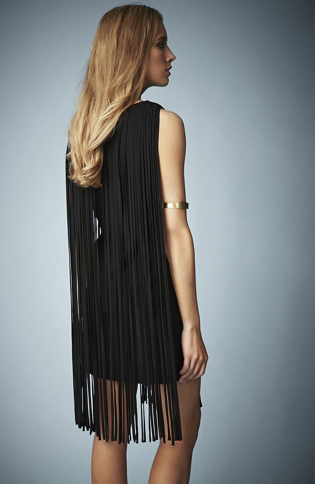 Alternate Image 2  - Kate Moss for Topshop Long Fringed Tassel Dress