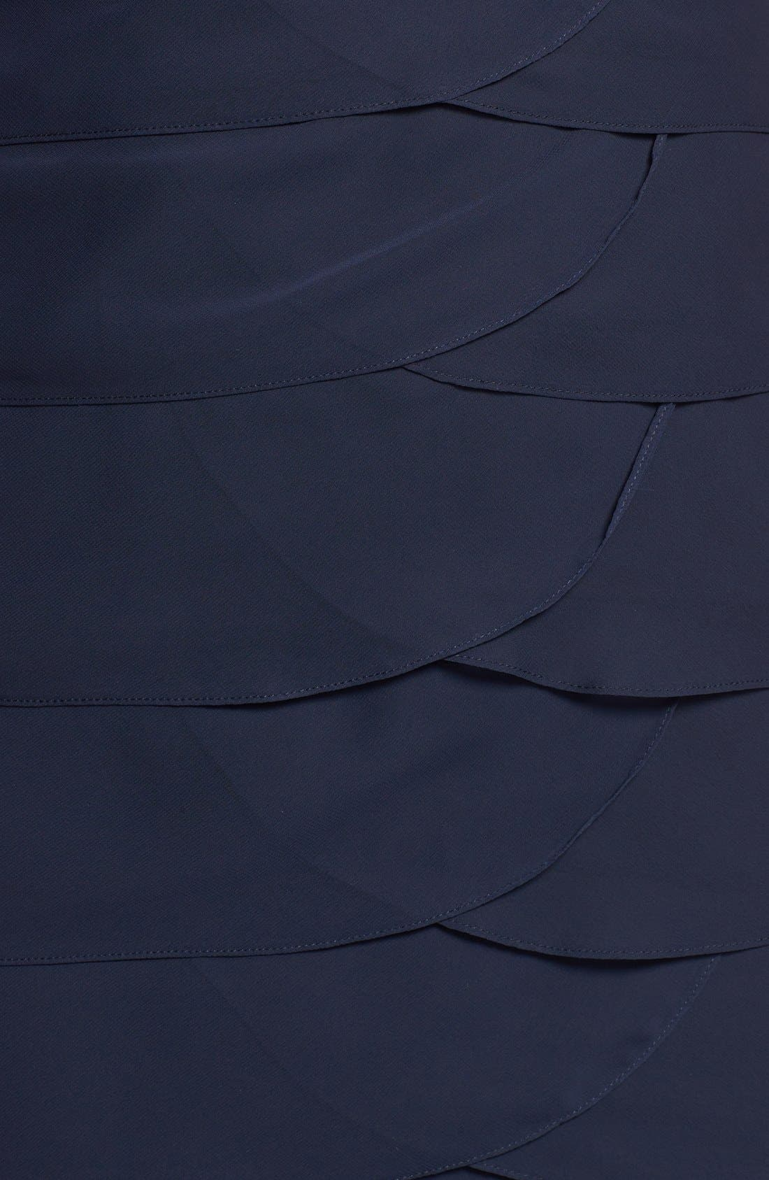 Alternate Image 3  - Jessica Howard 'Artichoke' Flutter Sleeve Chiffon Dress (Plus Size)