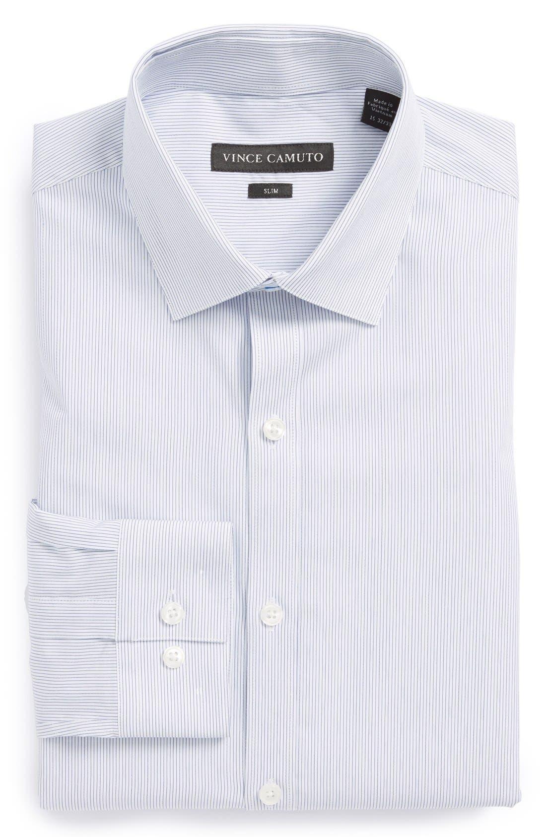 Alternate Image 1 Selected - Vince Camuto Slim Fit Stripe Dress Shirt