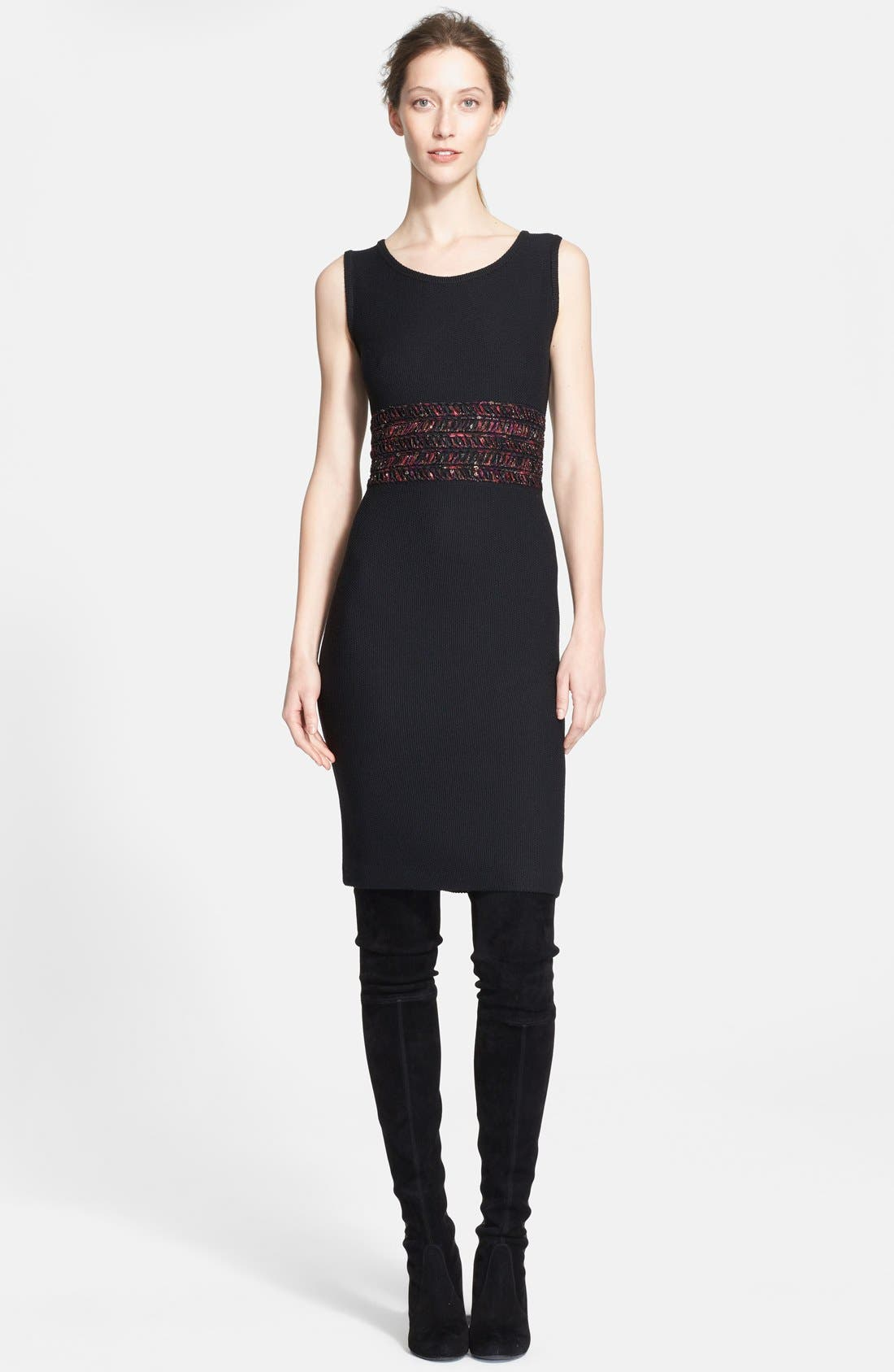 Alternate Image 1 Selected - St. John Collection Novelty Ribbon Knit Dress
