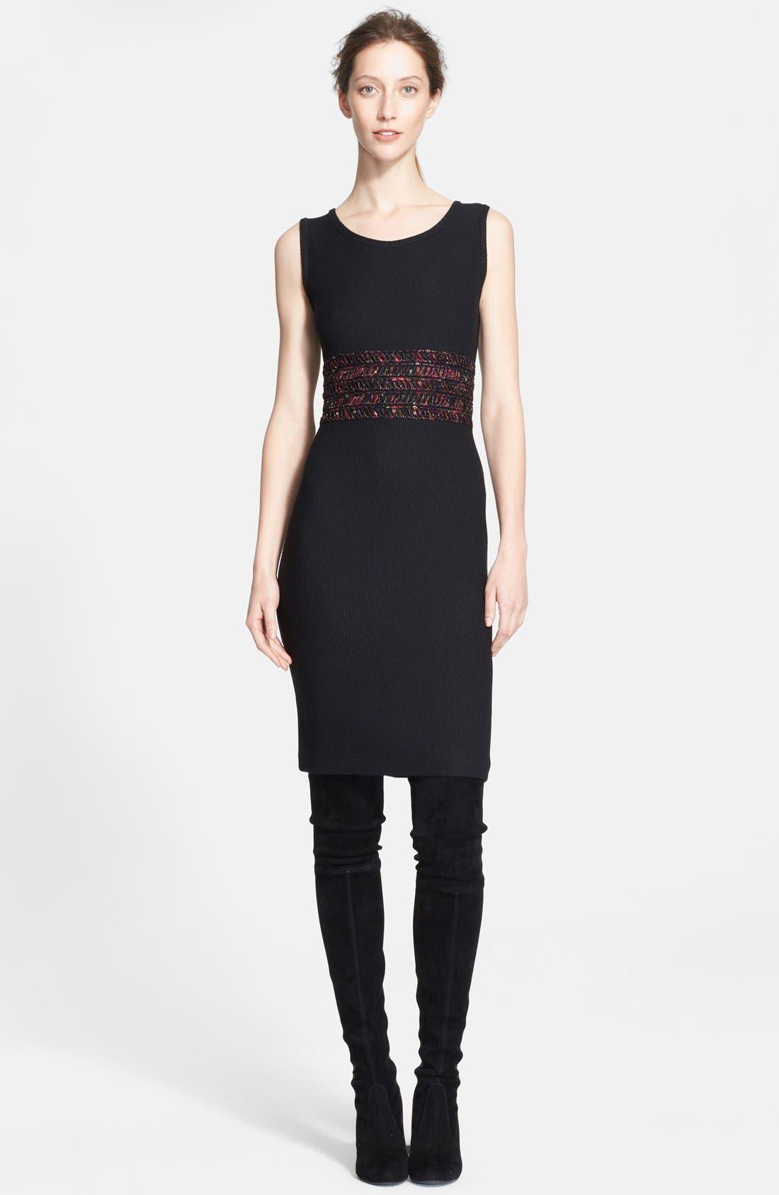 Main Image - St. John Collection Novelty Ribbon Knit Dress