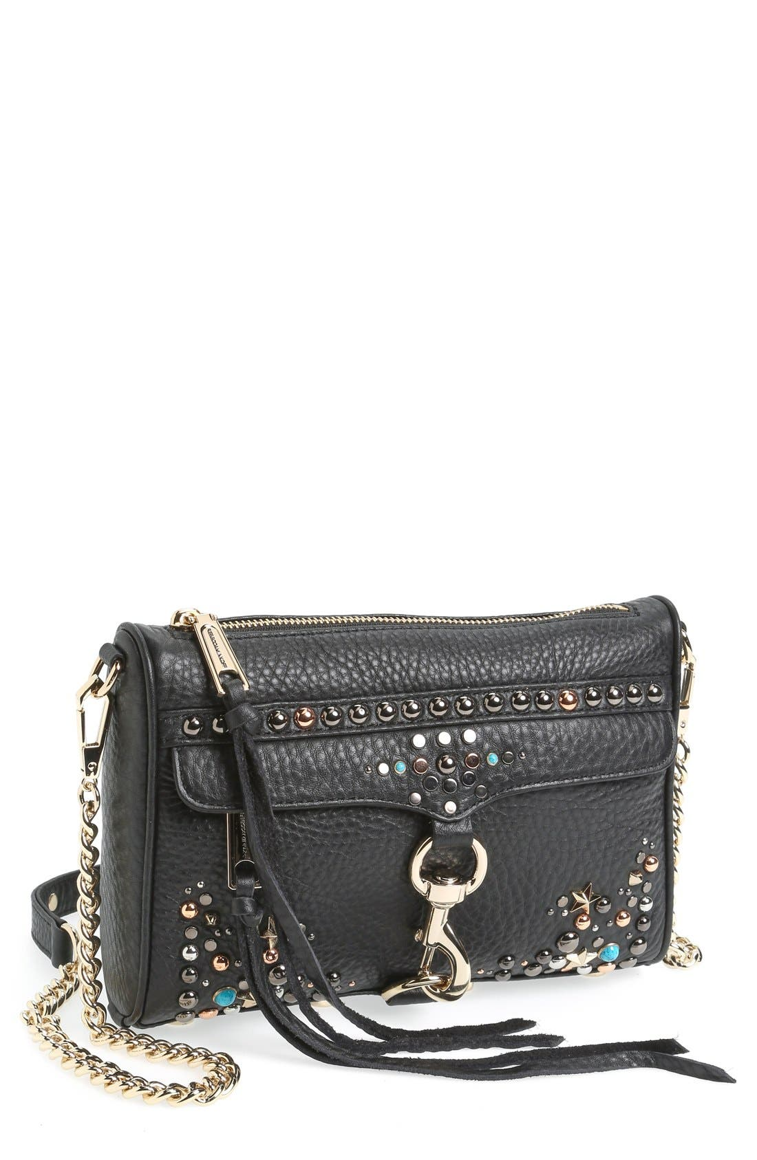 Alternate Image 1 Selected - Rebecca Minkoff 'Mini MAC - Austin' Studded Crossbody Bag