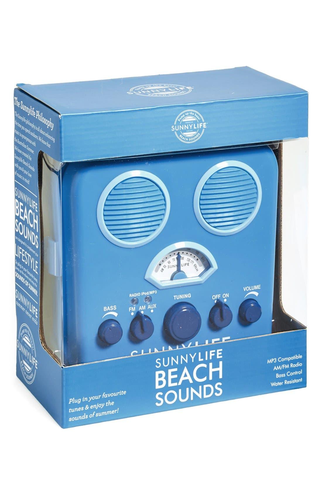 Alternate Image 2  - Sunnylife 'Beach Sounds' Portable Water Resistant Speaker & Radio