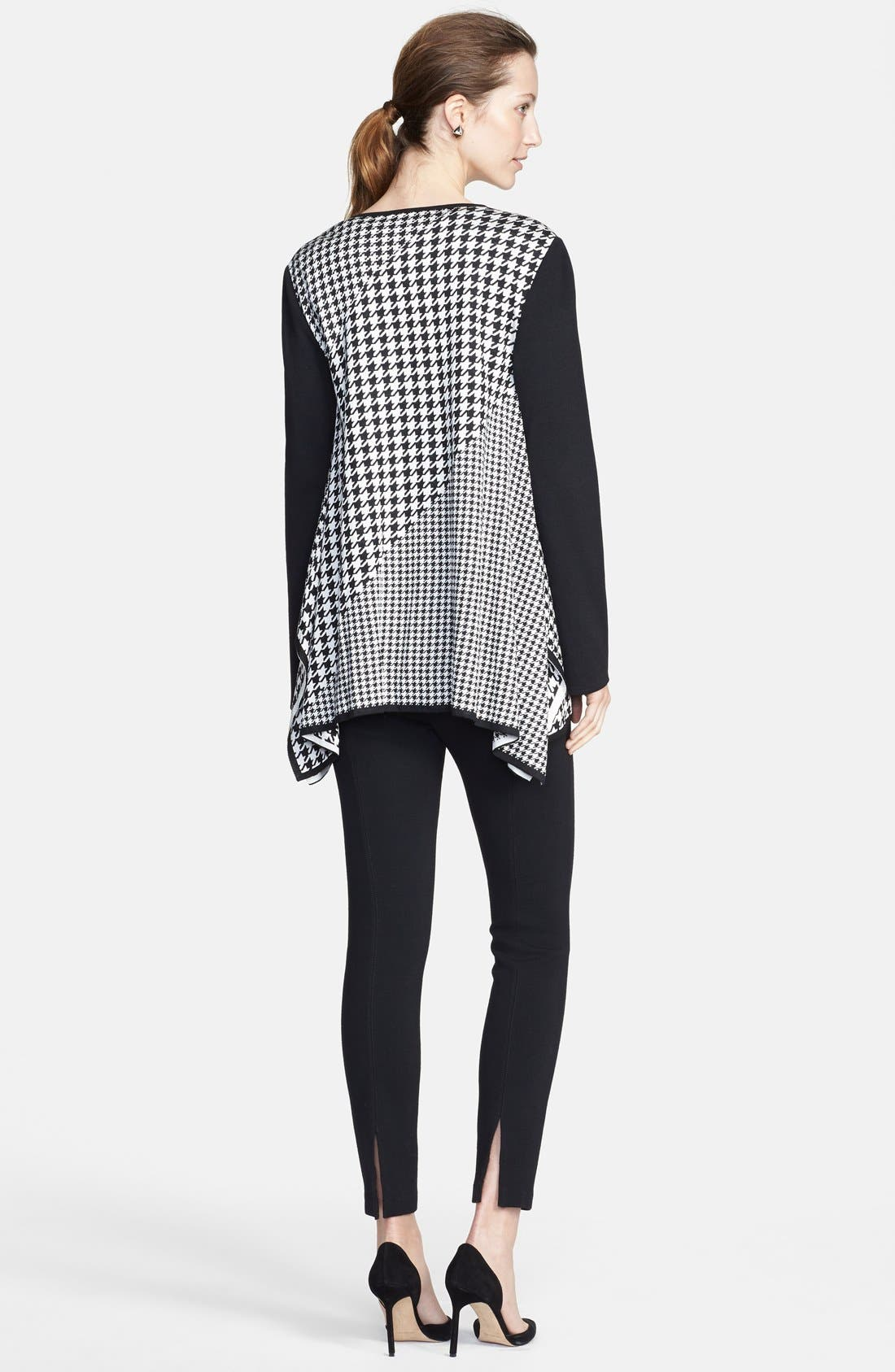 Alternate Image 5  - St. John Collection Multi Scale Houndstooth Jacquard Knit Cardigan