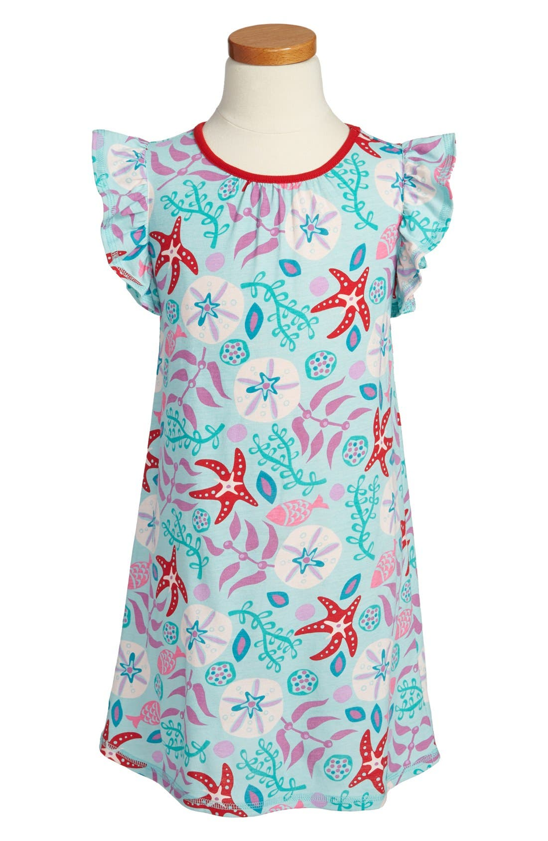 Main Image - Tea Collection 'Sea Life' Nightgown (Little Girls & Big Girls)