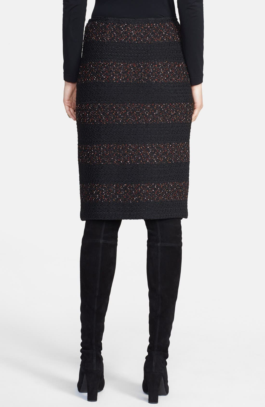 Alternate Image 2  - St. John Collection Textured Fleck Knit Pencil Skirt