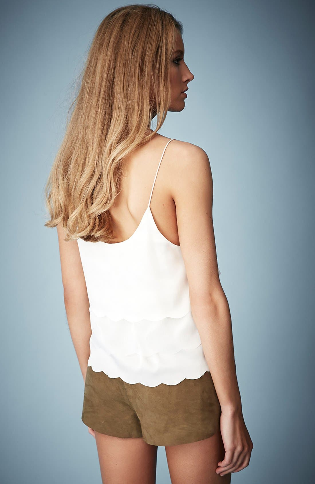 Alternate Image 2  - Kate Moss for Topshop Scalloped Camisole (Online Only)