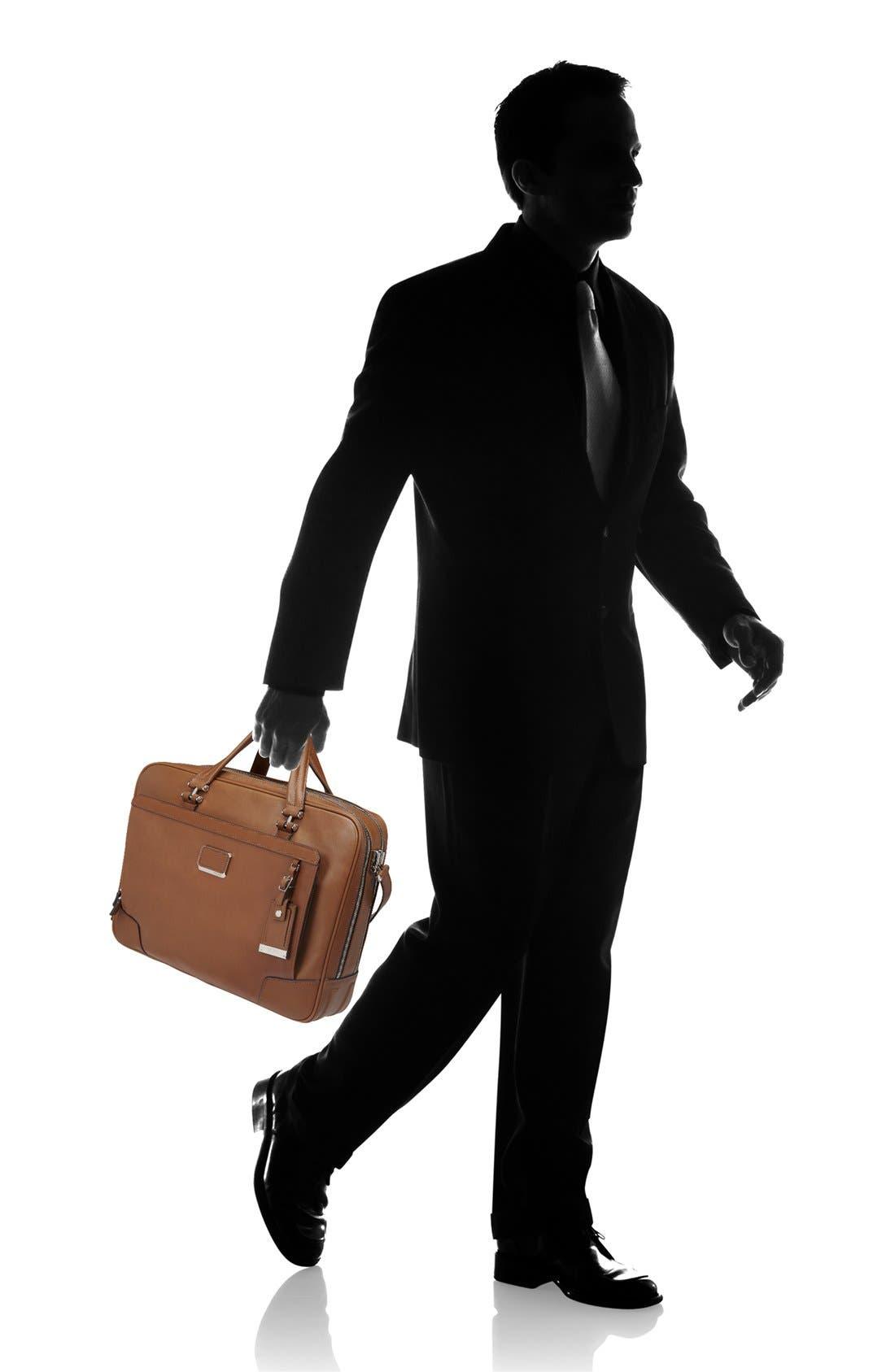 Alternate Image 3  - Tumi 'Astor Ansonia' Zip Top Vachetta Leather Laptop Briefcase (17 Inch)