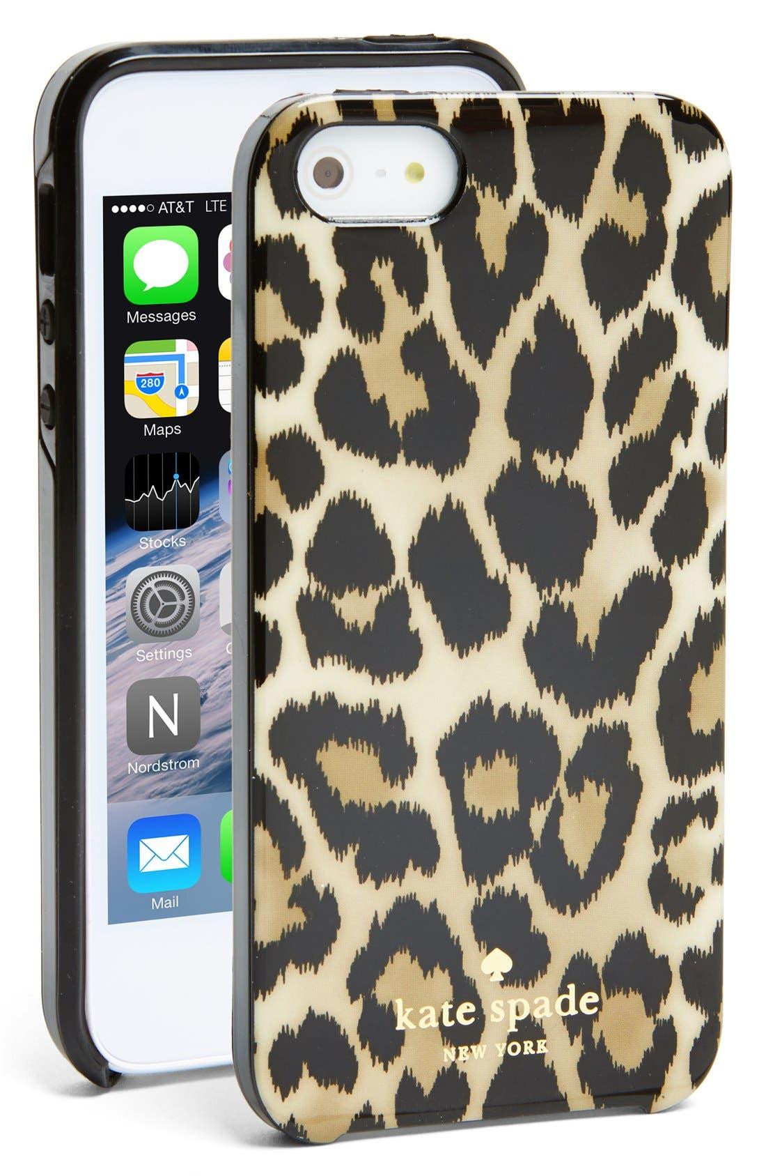 Alternate Image 1 Selected - kate spade new york 'leopard ikat' iPhone 5 & 5s case