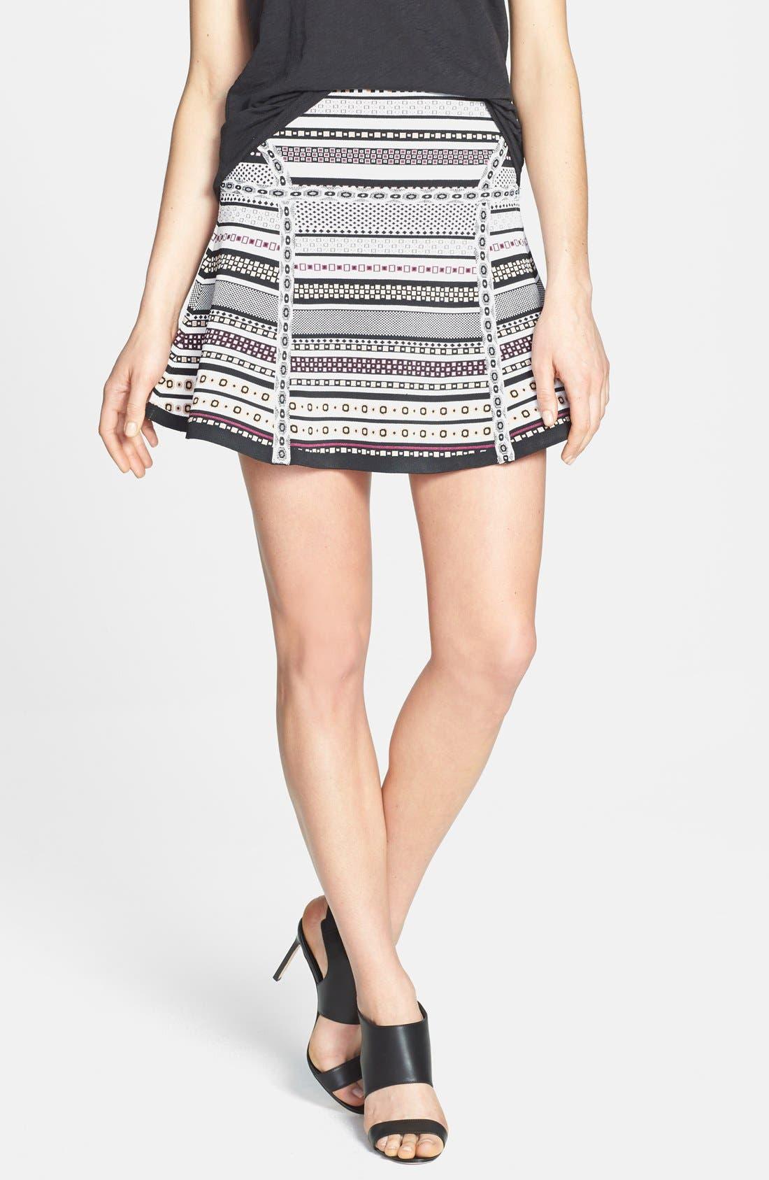 Alternate Image 1 Selected - Diane von Furstenberg 'Flote' Print Knit A-Line Skirt
