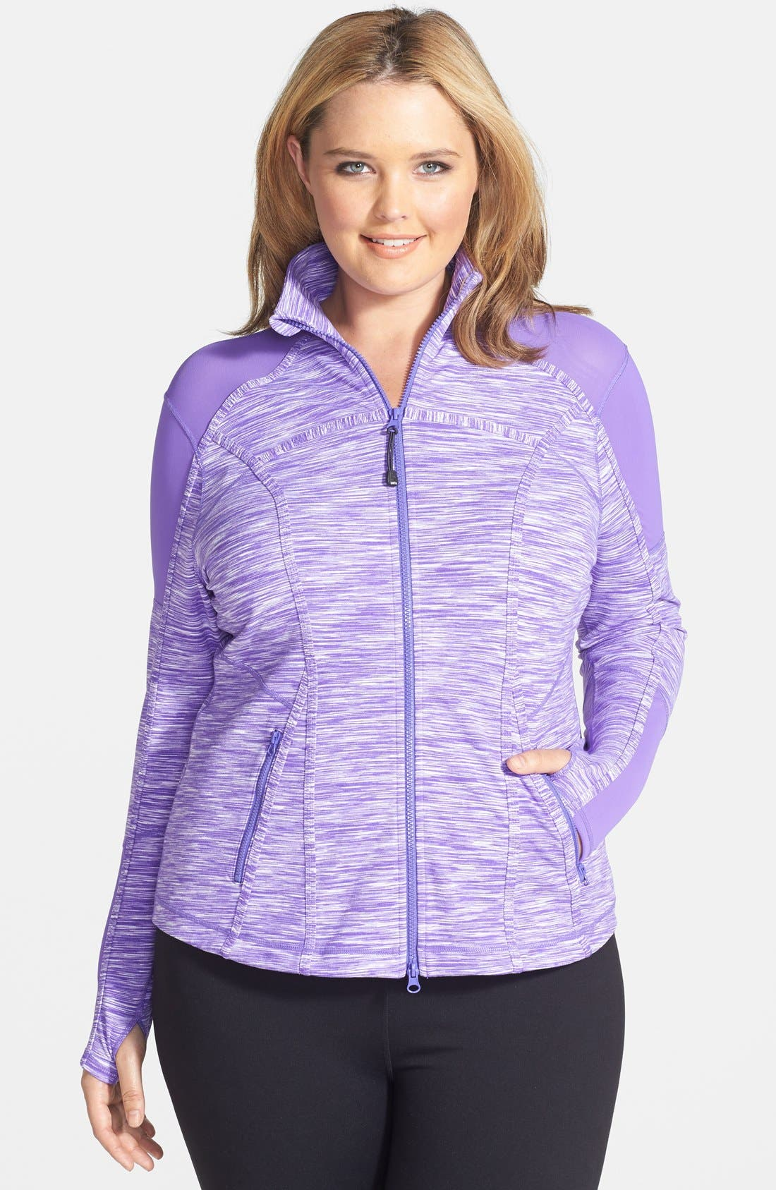 Alternate Image 1 Selected - Zella 'Power' Jacket (Plus Size)