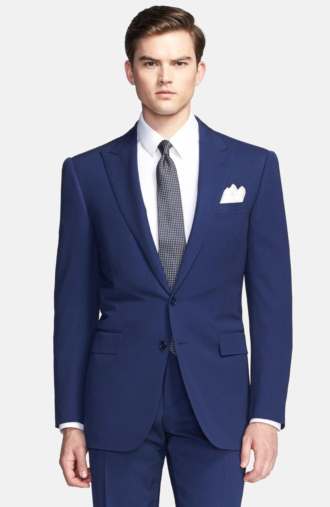 Alternate Image 3  - Ralph Lauren Black Label Twill Wool Suit