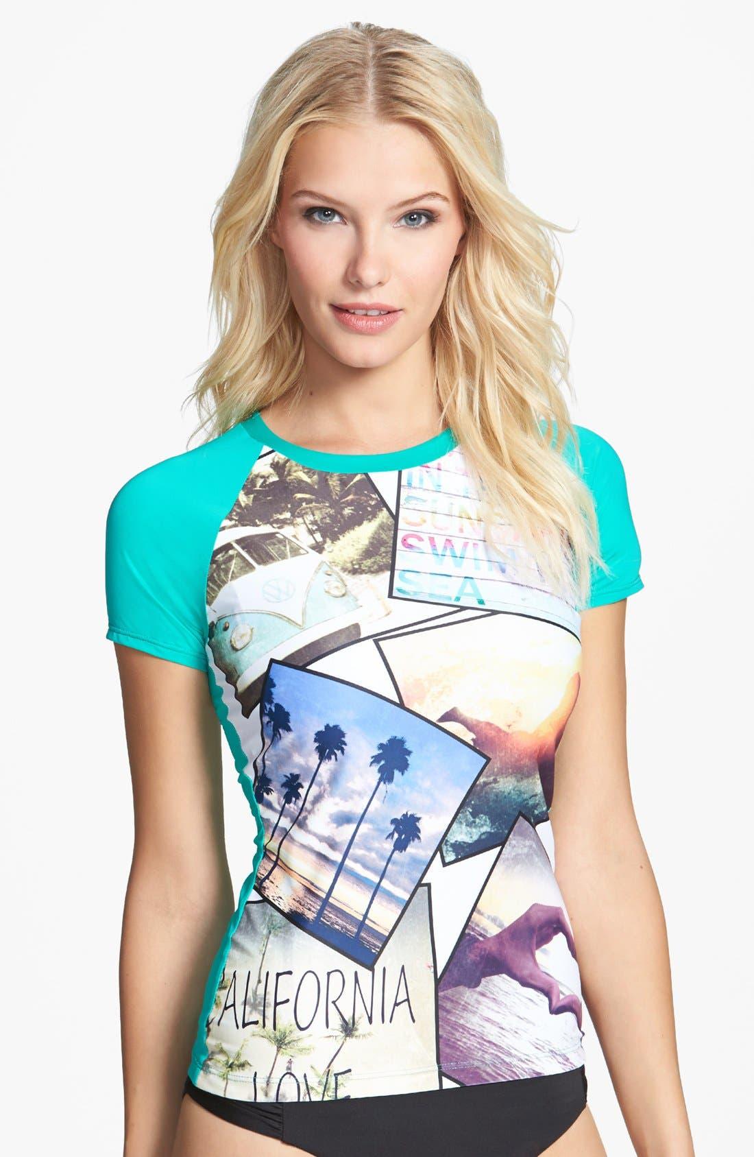 Main Image - W Swimwear 'California Love' Rashguard
