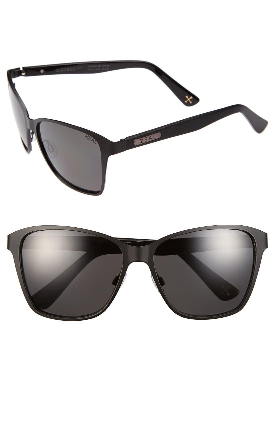 Alternate Image 1 Selected - Zeal Optics 'Laurel Canyon' 57mm Retro Polarized Sunglasses