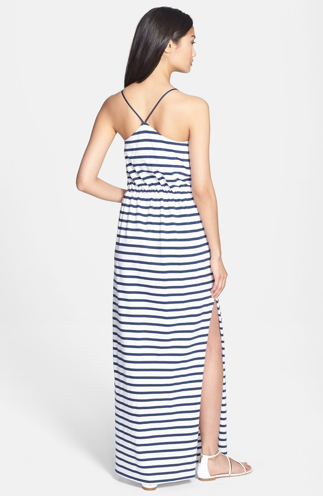 Alternate Image 2  - Milly Stripe Jersey Maxi Dress