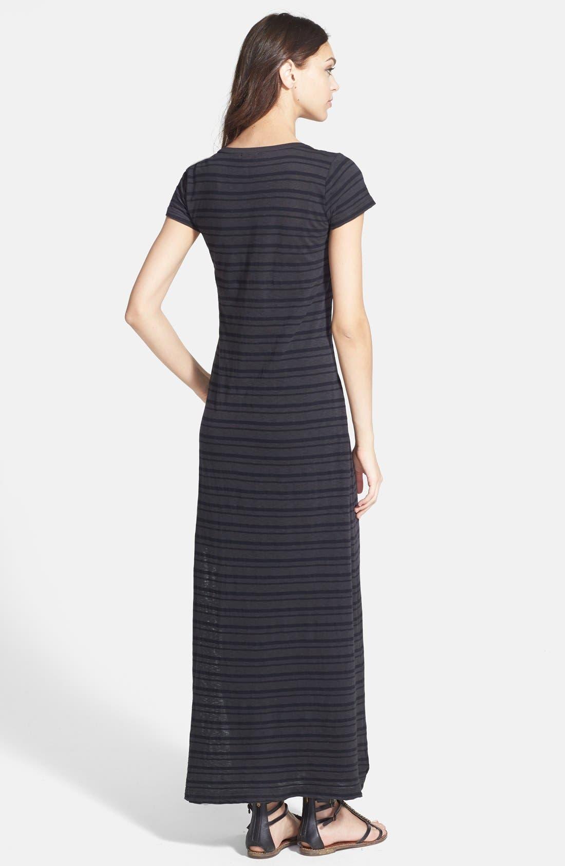 Alternate Image 2  - Splendid Stripe T-Shirt Maxi Dress