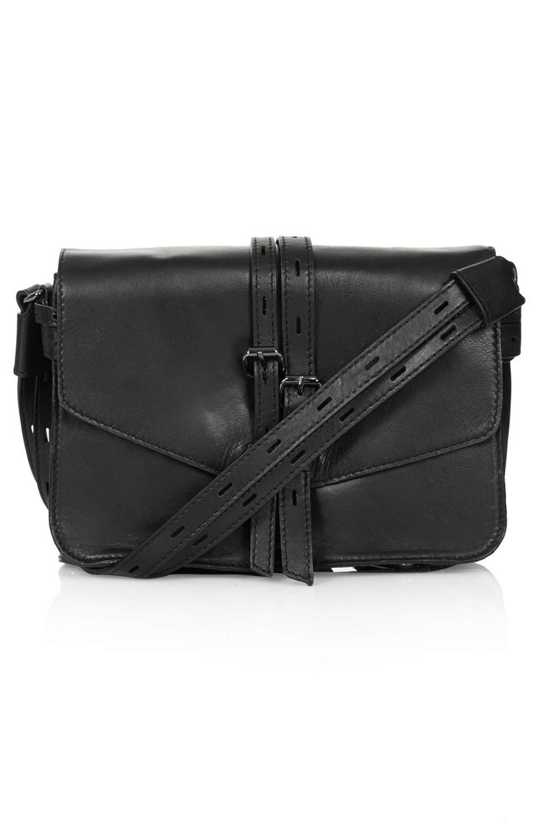 Alternate Image 1 Selected - Topshop Leather Crossbody Bag