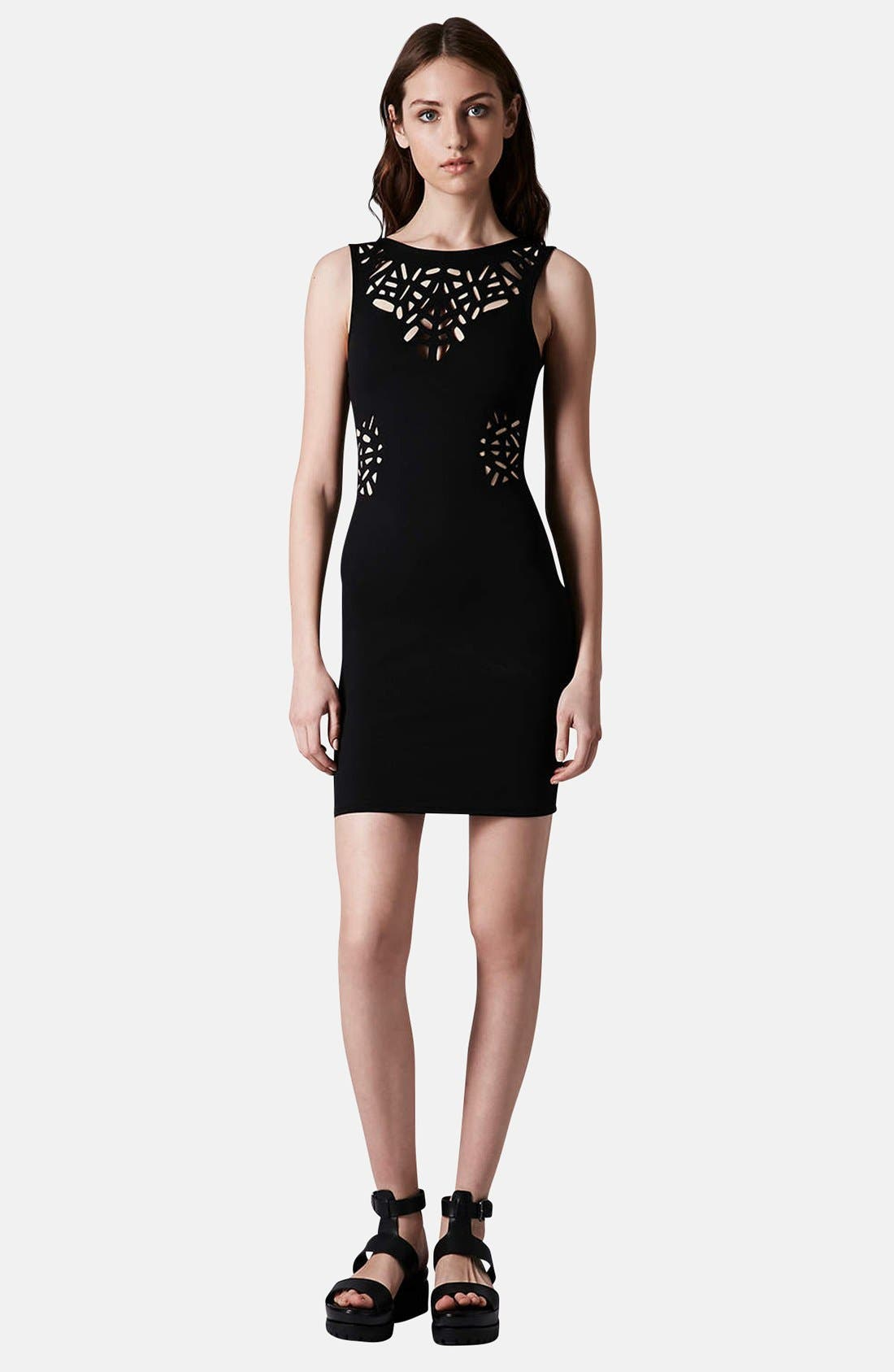 Alternate Image 5  - Topshop Laser Cut Body-Con Dress