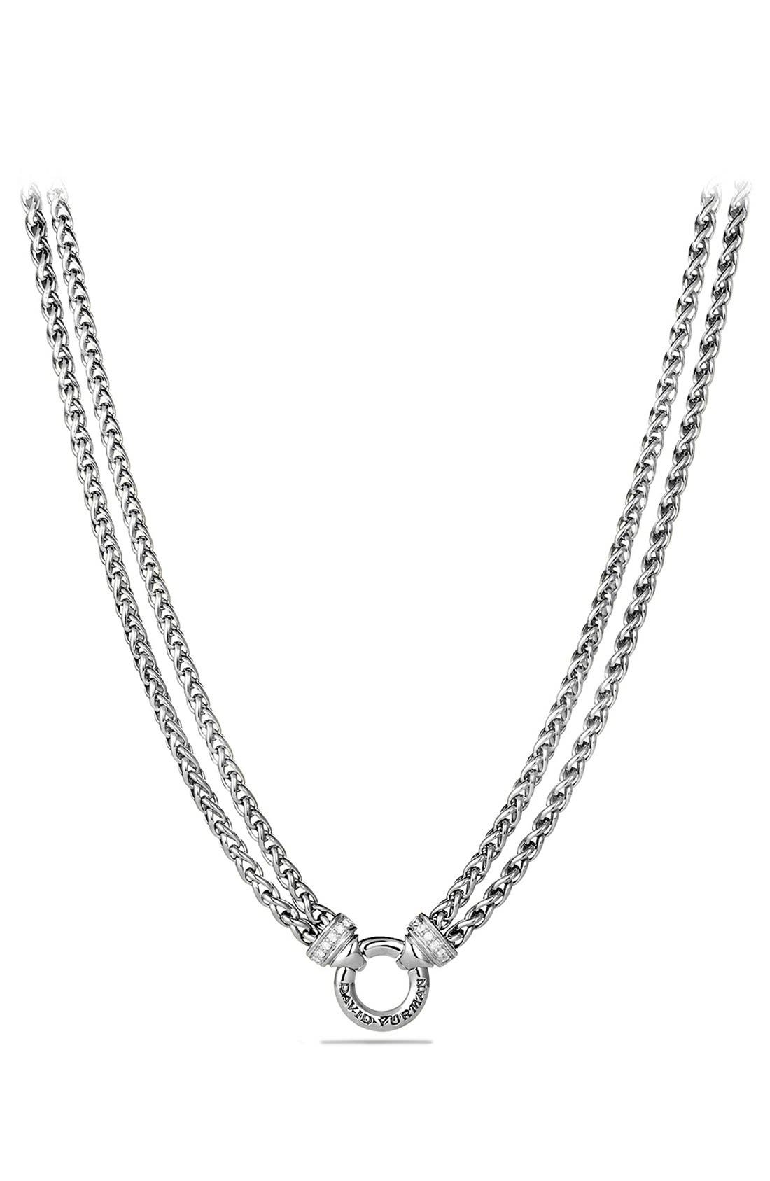 David Yurman Double Wheat Chain Necklace with Gold