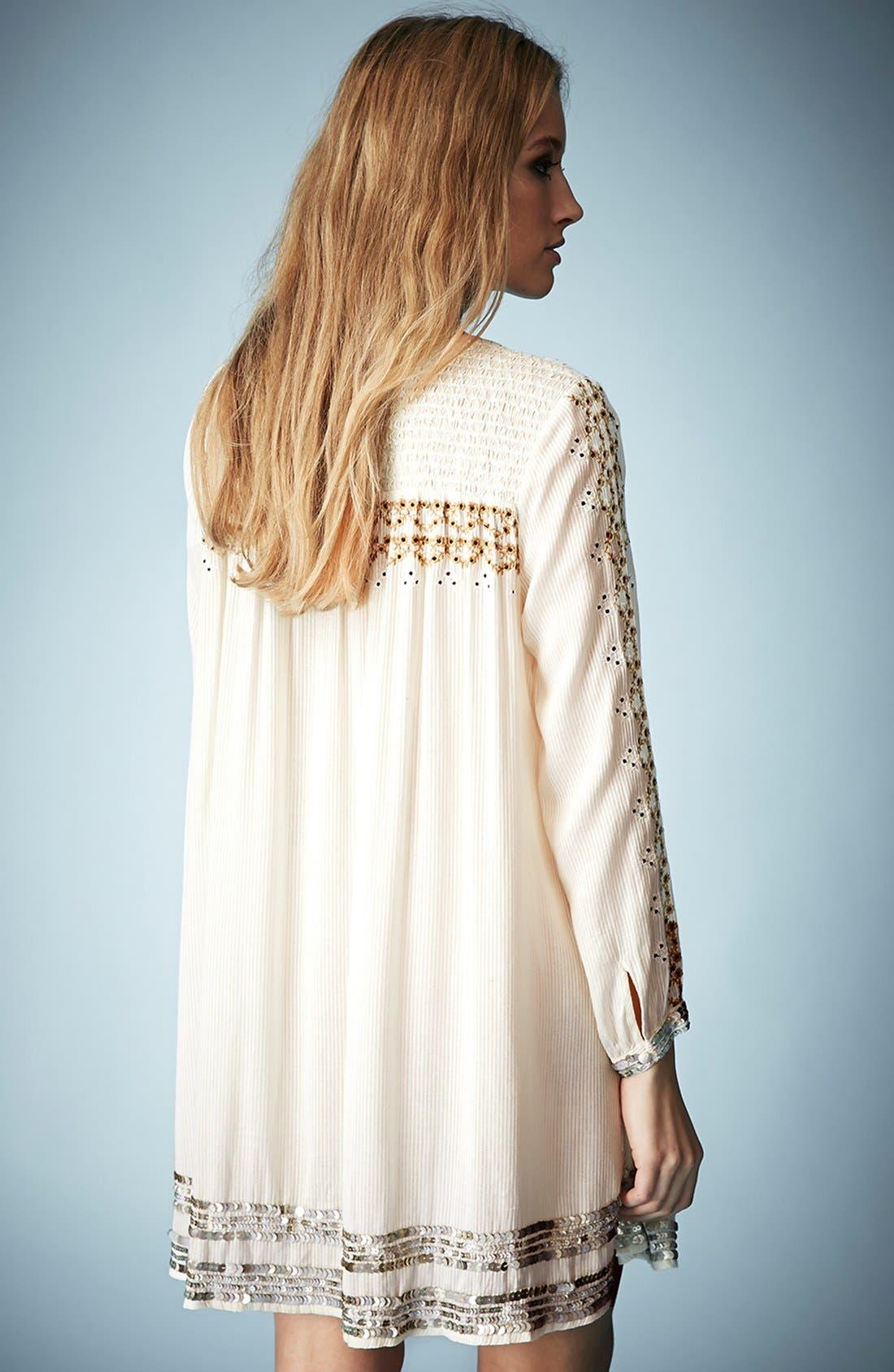 Alternate Image 2  - Kate Moss for Topshop 'Folk' Smocked Dress