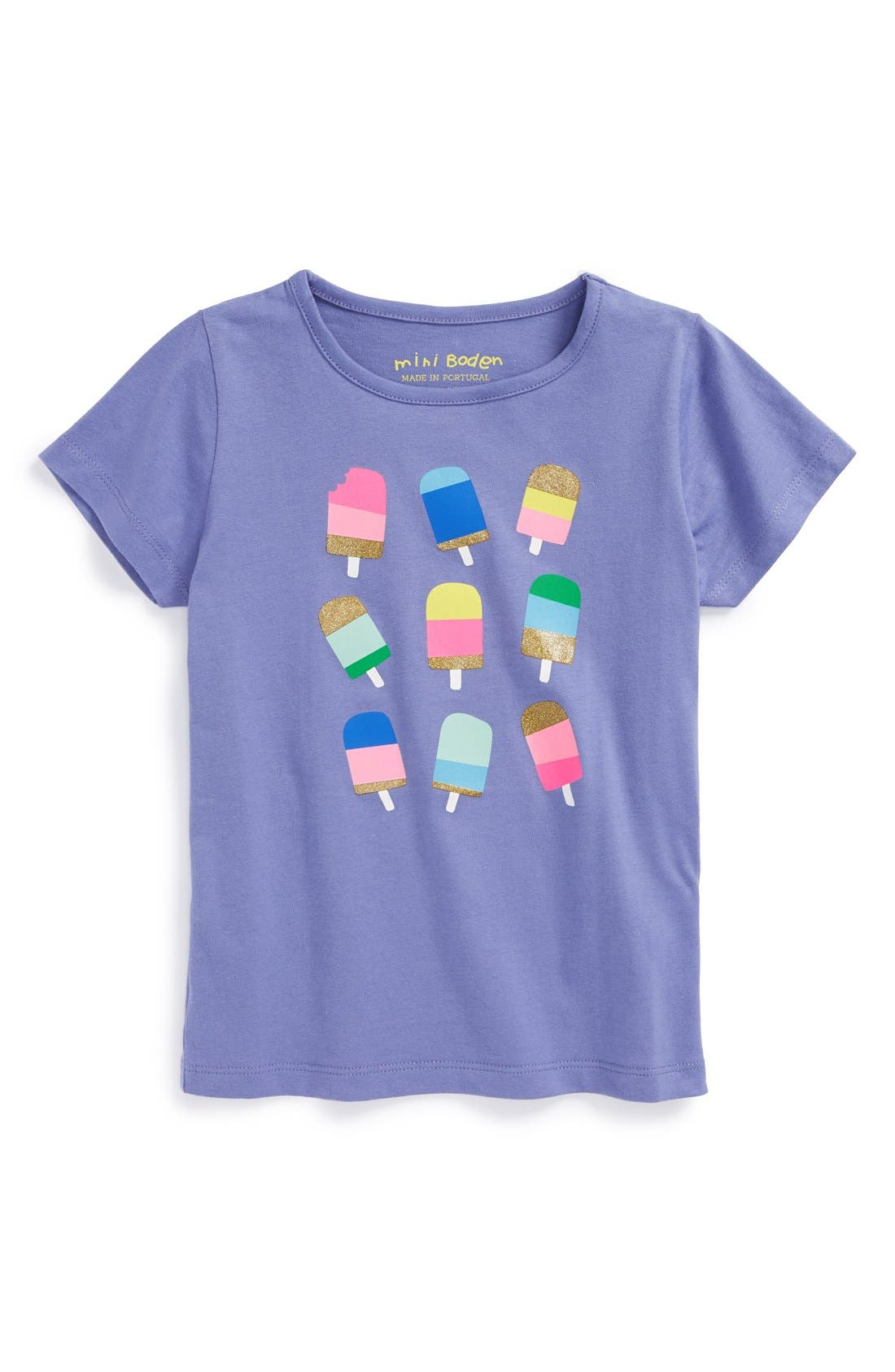 Main Image - Mini Boden Cap Sleeve Tee (Toddler Girls, Little Girls & Big Girls)