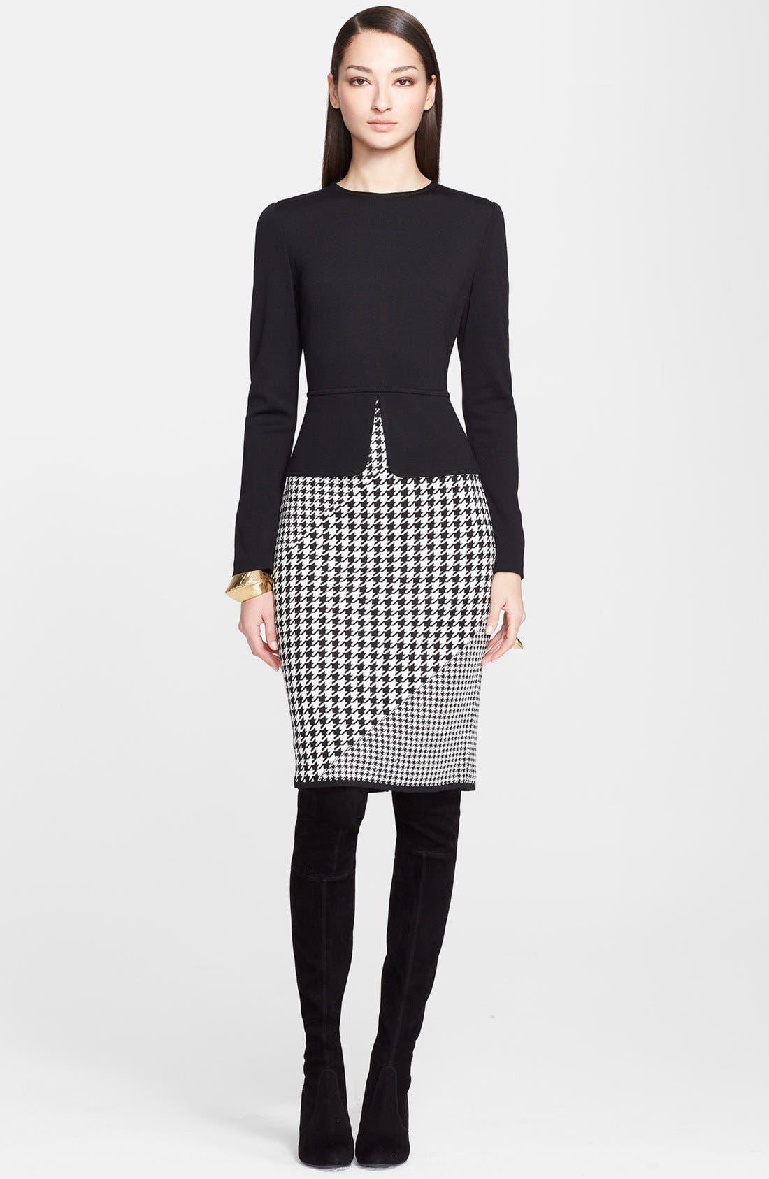 Main Image - St. John Collection Milano Knit Peplum Dress