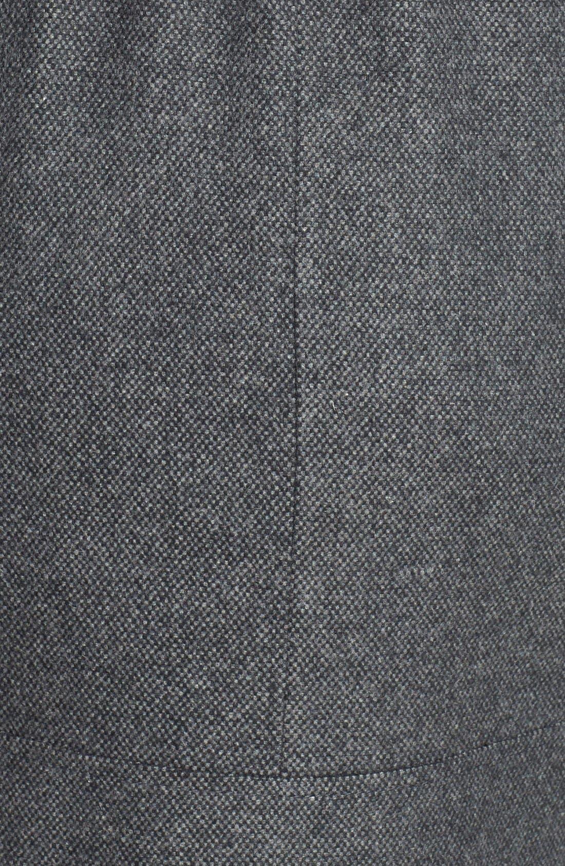 Alternate Image 4  - Laundry by Shelli Segal Faux Fur Trim Colorblock Tweed Coat